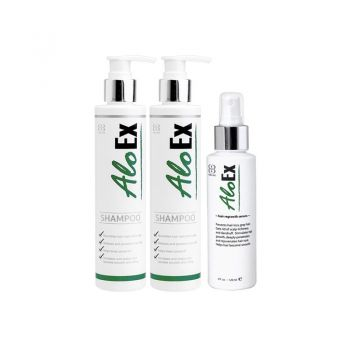 AloEx Hair Regrowth Shampoo 200 ml. (แพ็คx2) + Serum 120 ml.
